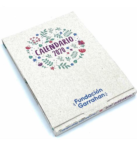 eco calendario 2020 reciclado plantable - fundación garrahan