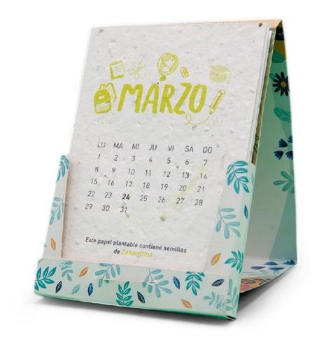 eco calendario plantable 2021 reciclado fundación garrahan e