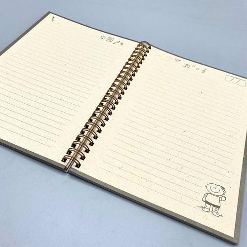 eco cuaderno escolar tapa blanda- fundación garrahan