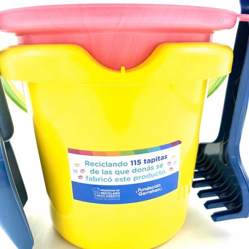 eco kit balde juguetes de playa - fundación garrahan