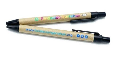 eco lapicera cartón - fundación garrahan - e