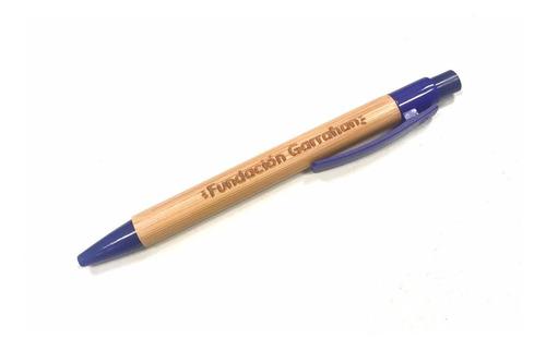 eco lapicera de bamboo - fundación garrahan - e
