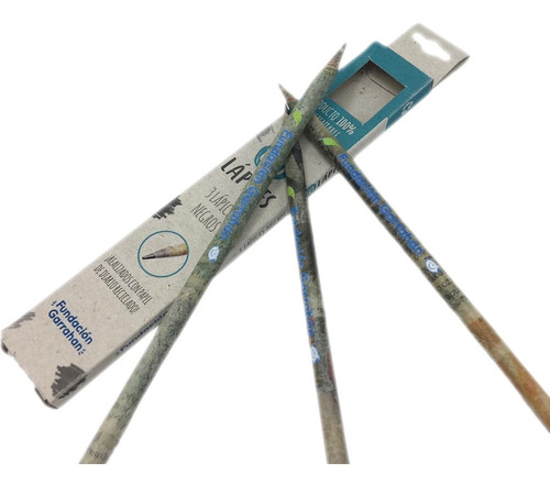 eco lápices negros diario reciclado x 3 - fundación garrahan