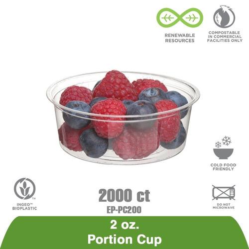 eco-productos - copas de las porciones renovables y composta