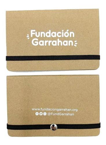 eco tarjetero y papeles autoadhesivos - fundación garrahan