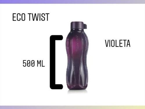 eco twist violeta. botella de 500ml, medio litro. tupperware