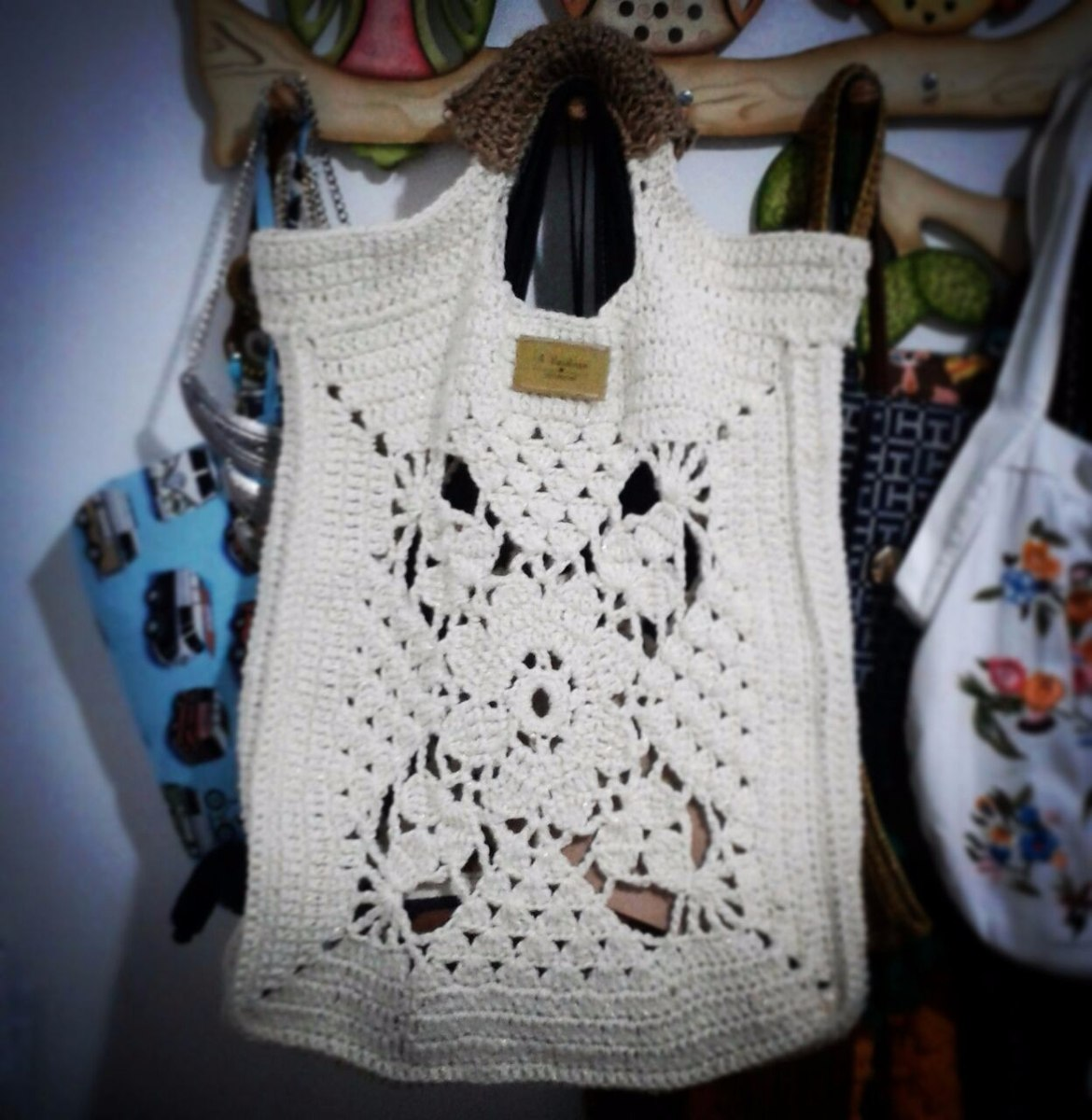Ecobag Bolsa Mão Feminina Croche Crochê Crochet Boho Praia - R$ 339 ...