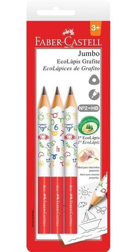 ecolápis grafite jumbo com 3 unidades