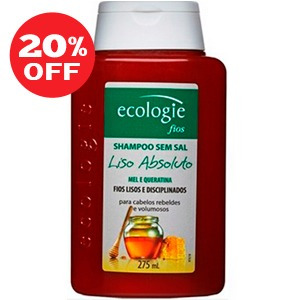 ecologie shampoo liso absoluto rebeldes e volumosos 275ml