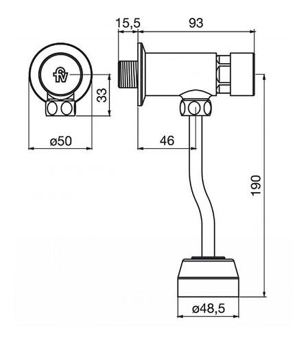 ecomatic valvula automatica mingitorio fv 0362.01 cromado