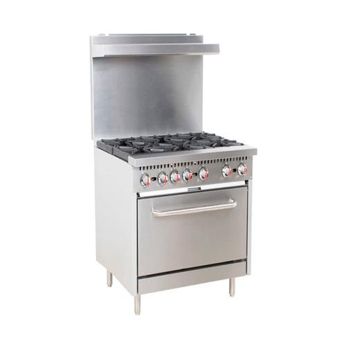 ecomax s36 estufa 6 quemadores horno restaurant industrial