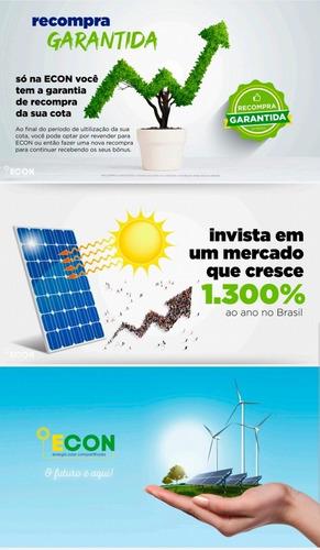 econ, o futuro é aqui! energia solar compartilhada!