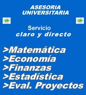 economia matematica finanzas proyectos trabajo asesorias tes