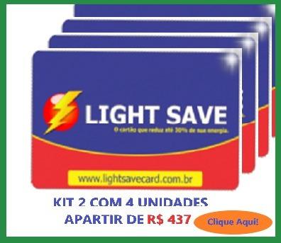 economizador de energia light save card kit 3 com 1 unidades