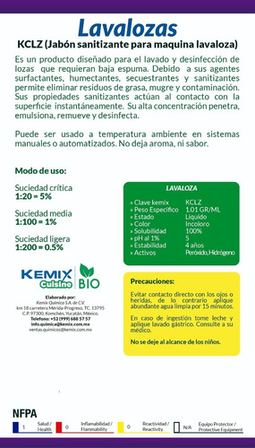 ecopack - lavalozas triple acción biodegradable kosher kc