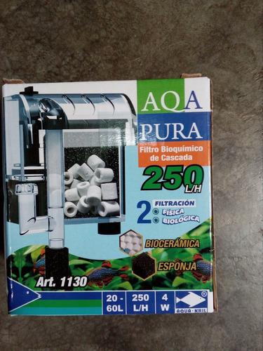 ecopet filtro de cascada 250l/h acuarios de 20-60 lt.