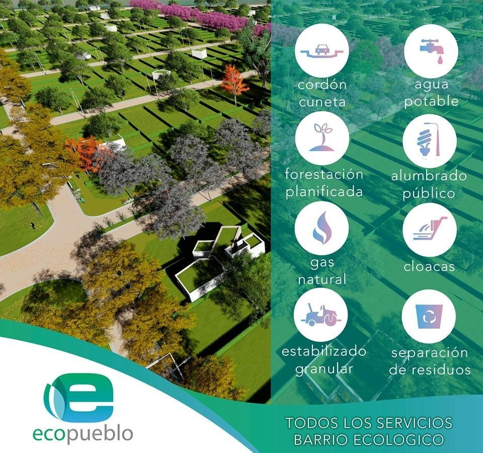 ecopueblo en alvear - un barrio para vivir - reserva ya en pesos y empeza a construir a la brevedad