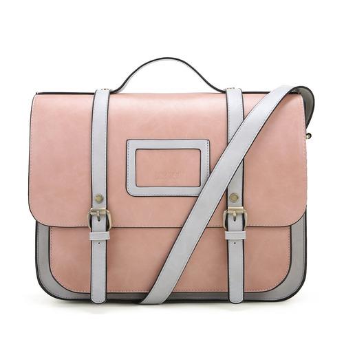 ecosusi maletín de mujer bolso bandolera bandolera vintage d