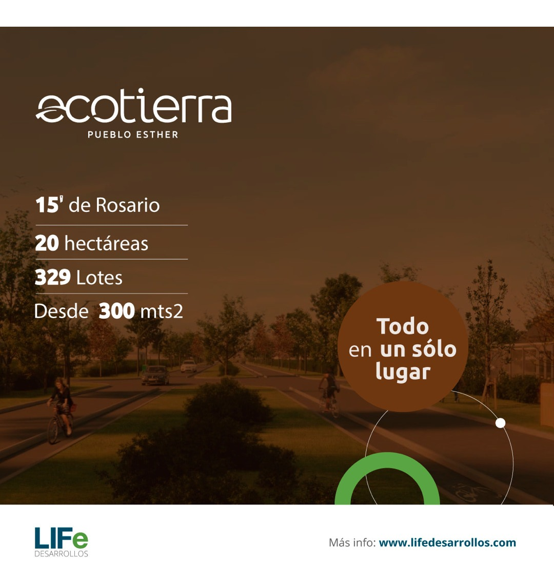 ecotierra. localidad de pueblo esther. terreno de 428 m2. financiados.
