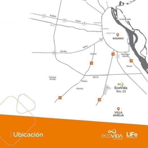 ecovida villa amelia - lotes financiados hasta 36 cuotas fijas o ajustables en pesos