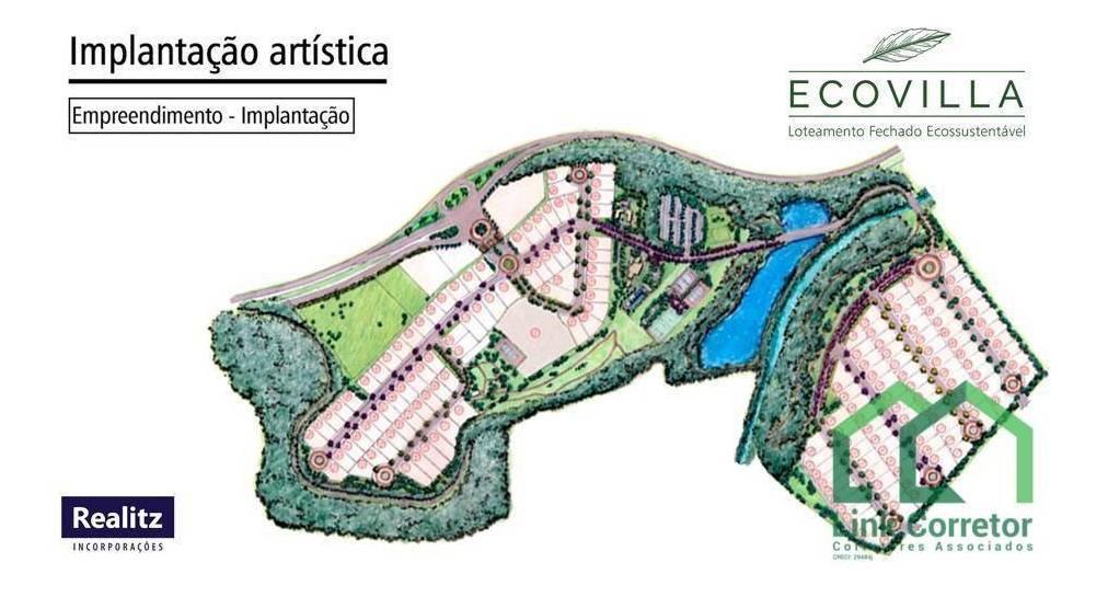 ecovilla realitz, terrenos à venda, condomínio de alto padrão, excelente localização. oportunidade! - te0076