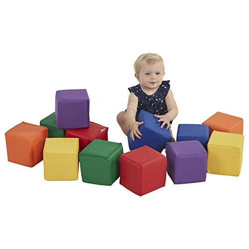 ecr4kids softzone toddler play soft blocks, primario (12 pie