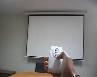 ecran eléctrico 4.00x3.00 mts,control remoto (rf), pulsador