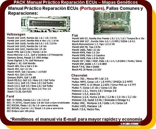 ecu computadora manual reparar practico mapa carro volumen 3