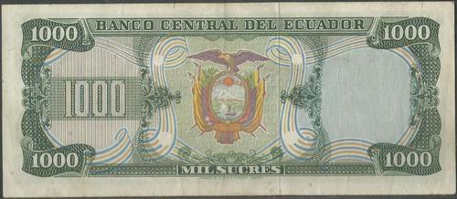 ecuador 1000 sucres  25 jul 1979 serie ha p120a
