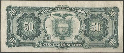 ecuador 50 sucres  17 jul 1974 serie to p116d