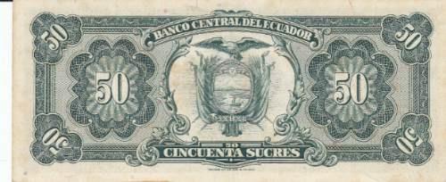 ecuador, antiguo billete de 50 sucres 1.980 tu
