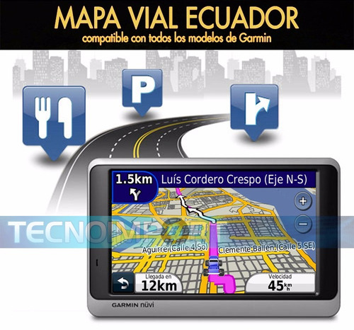 ecuador mapa vial - garmin android win ce iphone blackberry