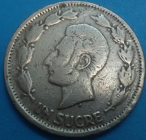 ecuador moneda  1 sucre 1937
