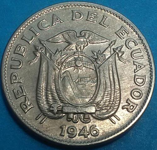 ecuador moneda  5 centavos 1946
