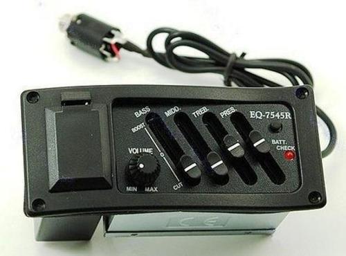 ecualizador activo 4 bandas con microfono, para guitarra