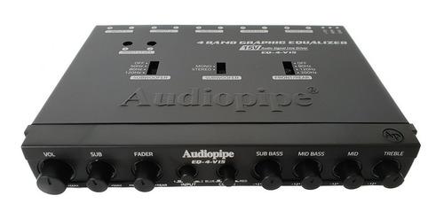 ecualizador audiopipe 4 bandas eq-4-v15
