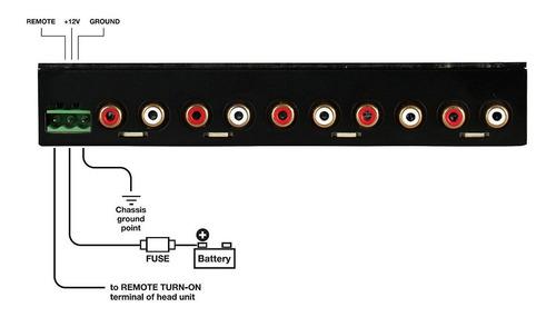 ecualizador car audio 4 bandas pre-amp dorado trasero trase