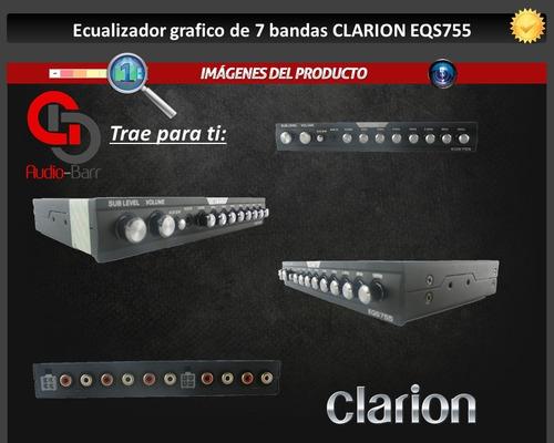 ecualizador clarion grafico de 7 bandas eqs755 1/2 din