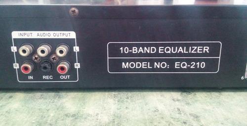 ecualizador de 10 bandas nippon dj eq 210