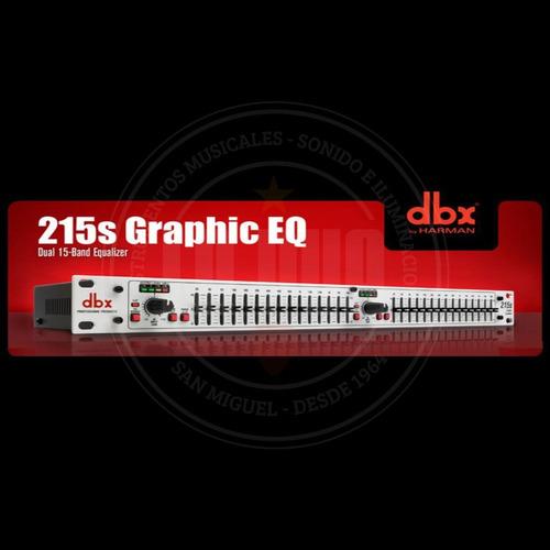 ecualizador gráfico dbx 215s de doble canal de 15 bandas