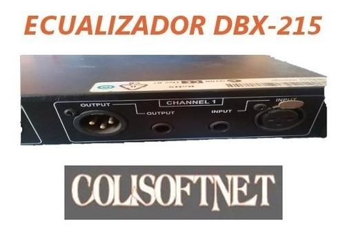 ecualizador grafico dbx modelo 215 como nuevo!!!