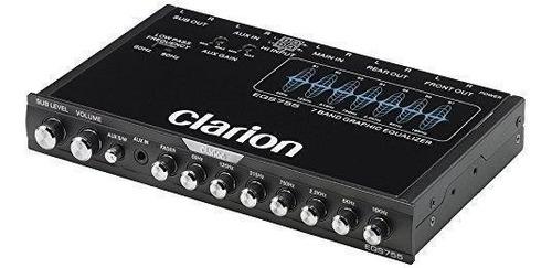 ecualizador gráfico de 7 bandas clarion eqs755 con audio au