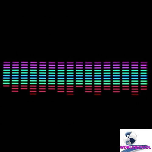 ecualizador led sticker calcomania sonido radio musica luz