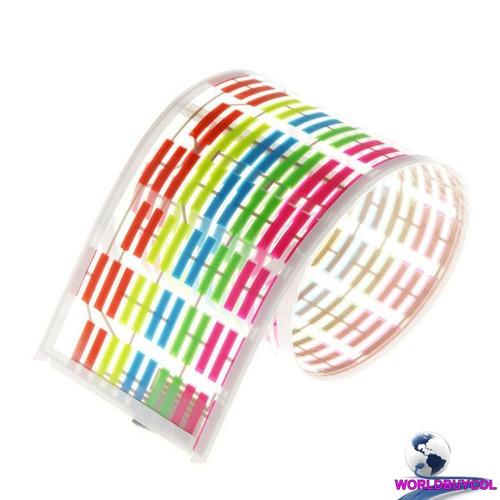 ecualizador led sticker calcomania sonido radio musica luz