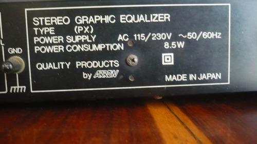 ecualizador marca arrow. stereo graphic equalizer
