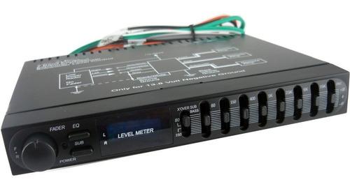 ecualizador pasivo audio st-180eq 1/2 din 7 bandas pre amp