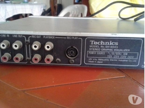 ecualizador technicssh-8045(japon)12 band gtia acutron-audio