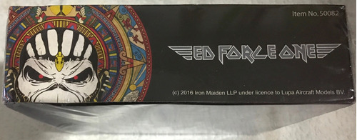 ed force one escala 1:500- iron maiden avião- book of souls