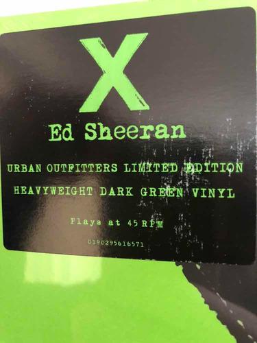 ed sheeran - x (2 vinilo 45 rpm) verde uo edition gatefold