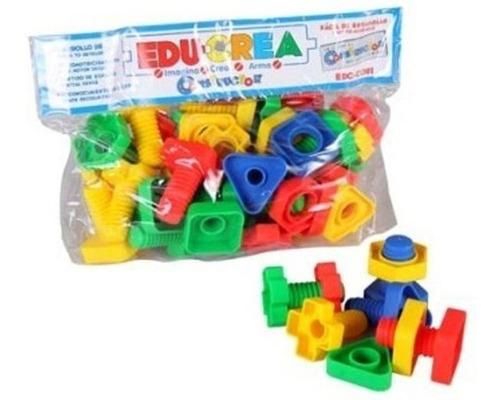 edc-c081 tornituercas juego construcción 51 piezas educrea